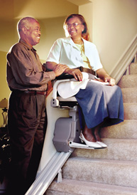 Electra-Ride™ LT stairlift in San Francisco Bay