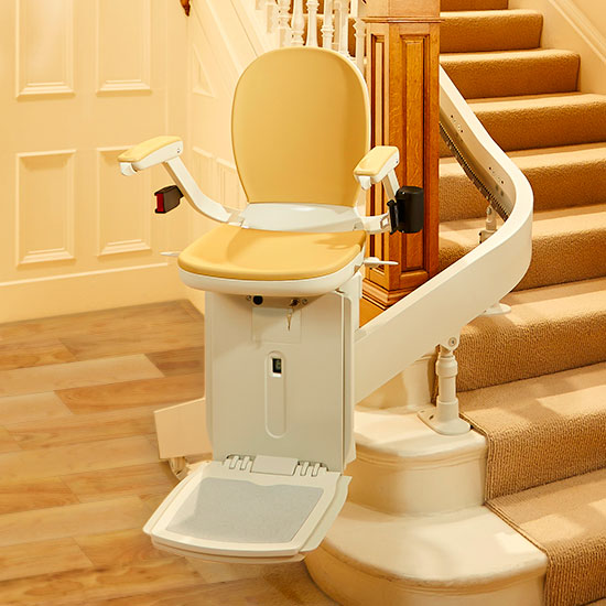 Acorn 180 Stairlift - designed for curved staircases